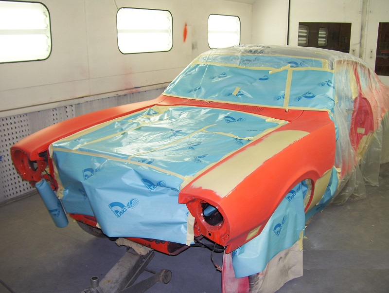 Car in paint booth 2